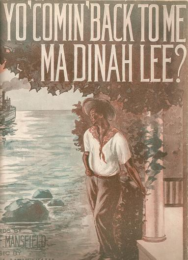 AIN'T YO' COMIN' BACK TO ME MA DINAH LEE?; Words by Margaret F. Mansfield. Music by E. Maxwell Honeyman. Ain't yo.. sheet music.