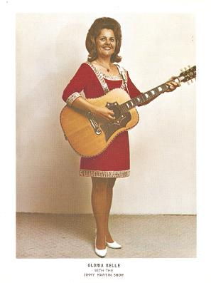 PROFESSIONAL, FULL-COLOR PHOTOGRAPH OF GLORIA BELLE:; American country singer with the Jimmy Martin show. Gloria Belle.