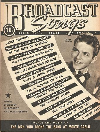 """GROUP OF 16 ISSUES OF """"BROADCAST SONGS"""":; Radio, Stage, Screen. Broadcast Songs."""