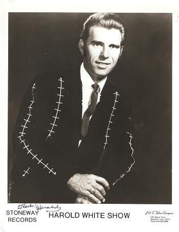 SIGNED, PROFESSIONAL PHOTOGRAPH OF HAROLD WHITE:; Country & Western performer. Harold White.