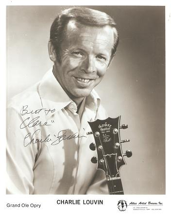 SIGNED, PROFESSIONAL PHOTOGRAPH OF CHARLIE LOUVIN OF THE GRAND OLE OPRY. Charlie Louvin.