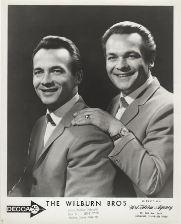PROFESSIONAL PHOTOGRAPH OF THE WILBURN BROTHERS:; Country & Western Performers. Teddy and Doyle Wilburn.