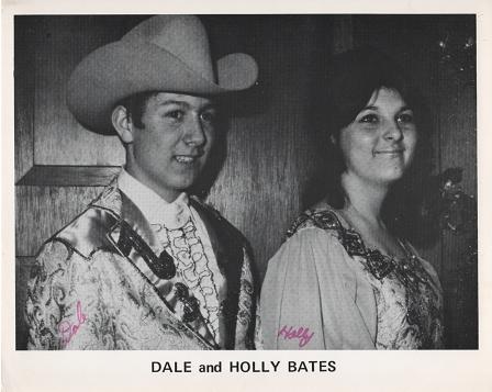 SIGNED, PROFESSIONAL PHOTOGRAPH OF DALE AND HOLLY BATES:; Country & Western performers. Dale and Holly Bates.