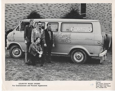 PROFESSIONAL PHOTOGRAPH OF BOB FLOWER AND THE STARDUSTERS:; Country & Western Performers. Bob Flower.
