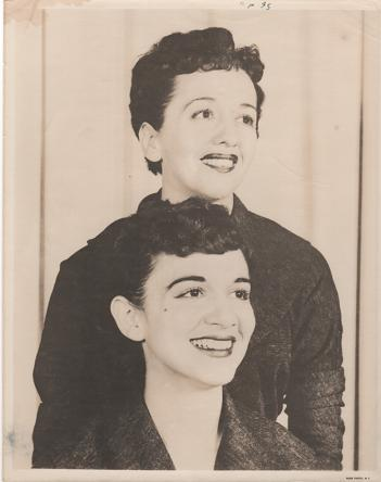 PROFESSIONAL PHOTOGRAPH OF THE KARROLL SISTERS:; Country & Western Performers. Kay and Dotty Karroll.