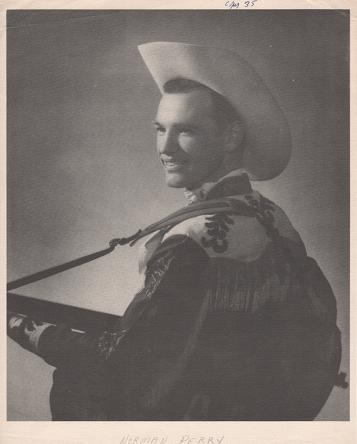 PROFESSIONAL PHOTOGRAPH OF NORMAN PERRY:; Country & Western performer. Norman Perry.