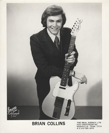PROFESSIONAL PHOTOGRAPH OF BRIAN COLLINS:; Country & Western performer. Brian Collins.