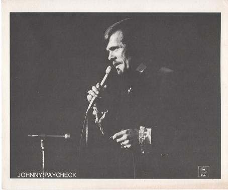 PROFESSIONAL PHOTOGRAPH OF JOHNNY PAYCHECK:; Country & Western Performer. Johnny Paycheck.