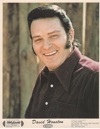PROFESSIONAL PHOTOGRAPH OF DAVID HOUSTON:; Country & Western performer. David Houston.