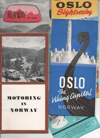 GROUP OF SIX (6) AUTOMOBILE TOURING GUIDES. Norway.