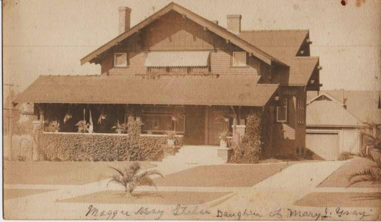 LARGE, REAL-PHOTO POST CARD, SHOWING THE HOME OF MAGGIE MAY STILES, DAUGHTER OF MARY J. GRAY. Occidental California.