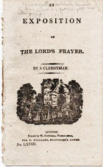 AN EXPOSITION OF THE LORD'S PRAYER. By A Clergyman. Anonymous.