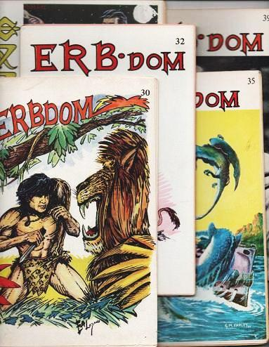 ERB-DOM AND THE FANTASY COLLECTOR (EDGAR RICE BURROUGHS): Group of five (5) issues. C. E. Cazedessus, Jr.