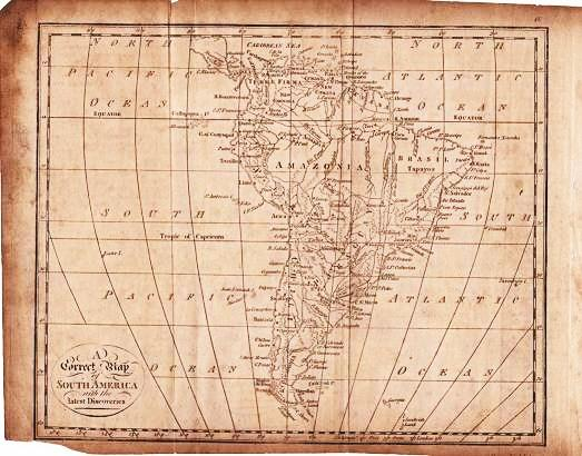 A CORRECT MAP OF SOUTH AMERICA WITH THE LATEST DISCOVERIES. South America.