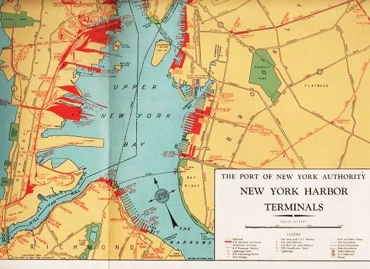 Map Of New York Harbour.Ship Via The Port Of New York Crossroads Of The World S Ship And