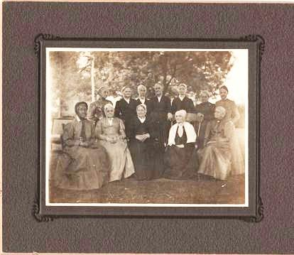 TWO GROUP PORTRAITS OF THIS PHILADELPHIA [CHESTER COUNTY?] FAMILY, ONE OF THE WOMEN IN QUAKER DRESS, AND ONE OF THE MEN. Smedley Family.