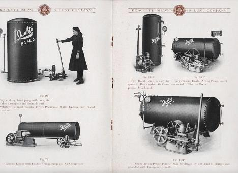 """""""RELIANCE"""" HYDRO-PNEUMATIC WATER SYSTEM: Fire Protection and Superior Water Service. Shaw and Lunt Brackett."""