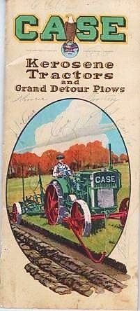 CASE KEROSENE TRACTORS AND GRAND DETOUR PLOWS. J. I. Case.