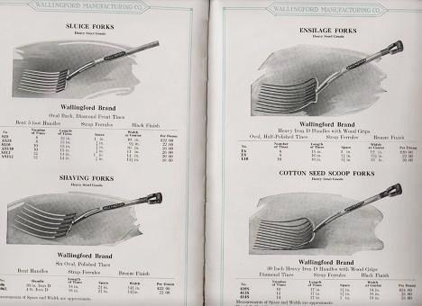 HAND TOOLS FOR FARM AND GARDEN: Steel Goods, Sidewalk Cleaners, Grass Hooks, Corn Hooks and Knives, Hay Knives. Catalog H. Wallingford Mfg. Co.