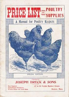 PRICE LIST OF POULTRY SUPPLIES: A Manual for Poultry Keepers. Joseph Breck.