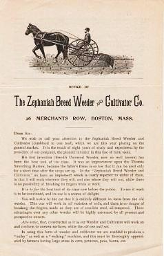 THE ZEPHANIAH BREED WEEDER AND CULTIVATOR CO. Zephaniah.