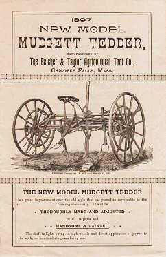 1897 NEW MODEL MUDGETT TEDDER. Belcher, Taylor.