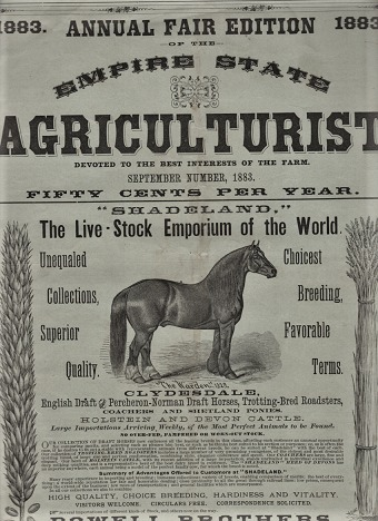 THE EMPIRE STATE AGRICULTURIST: Devoted to the Best Interests of the Farm. 1883 ANNUAL FAIR EDITION. Vol. 4, No. 9, September 1883. A. C. Allyn, Manager.