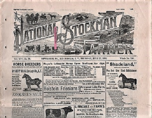 THE NATIONAL STOCKMAN AND FARMER, Vol. XVI, No. 10, June 23, 1892. Bush Axtell, publishers Co.