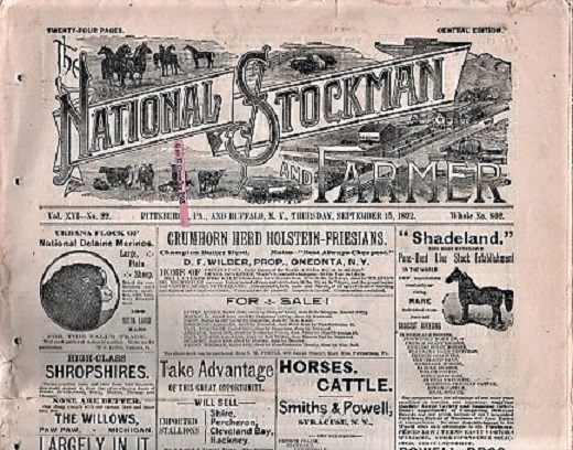 THE NATIONAL STOCKMAN AND FARMER, Vol. XVI, No. 22, September 15, 1892. Bush Axtell, publishers Co.