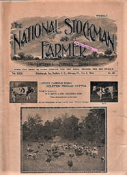 THE NATIONAL STOCKMAN AND FARMER: Group of 18 issues as listed below. Bush Axtell, publishers Co.