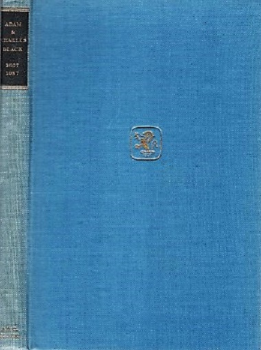 ADAM & CHARLES BLACK, 1807-1957: Some Chapters in the History of a Publishing House. J. D. Newth.