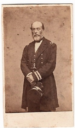CARTE DE VISITE OF ADMIRAL CHARLES S. BOGGS IN HIS CIVIL WAR NAVAL OFFICER'S UNIFORM. Charles Stewart Boggs.