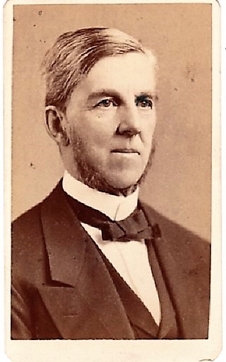 CARTE DE VISITE OF AMERICAN PHYSICIAN & POET, OLIVER WENDELL HOLMES, PHOTOGRAPHED BY WARREN STUDIOS. Oliver Wendell Holmes, Sr.