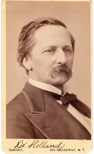 CARTE DE VISITE OF AMERICAN PHYSICIAN & WRITER DR. J.G. HOLLAND, PHOTOGRAPHED BY NAPOLEON SARONY. Josiah Gilbert Holland.