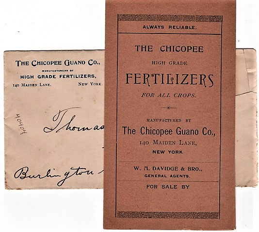 ALWAYS RELIABLE. THE CHICOPEE HIGH-GRADE FERTILIZERS FOR ALL CROPS. Chicopee Guano Company.
