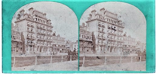 STEREOSCOPIC VIEW OF THE NORFOLK HOTEL, BRIGHTON. Brighton England.