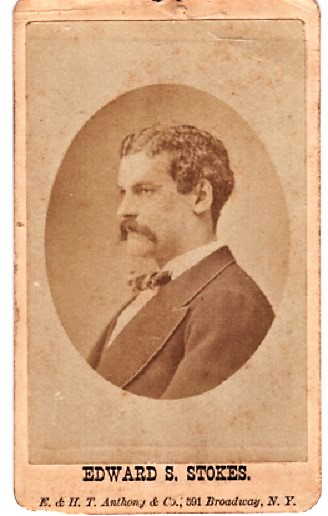 CARTE DE VISITE OF THE NEW YORK OIL TYCOON WHO MURDERED HIS BUSINESS PARTNER OVER A WOMAN. Edward Stiles Stokes.