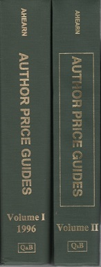 AUTHOR PRICE GUIDES [2 volumes]: Volume One, Revised, and Volume Two. Allen Ahearn, Patricia.