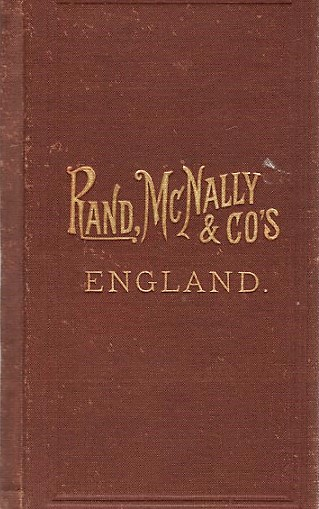 RAND, McNALLY & CO.'S INDEXED POCKET MAP OF ENGLAND AND WALES SHOWING THE COUNTIES, ISLANDS, LAKES, MOUNTAINS, RIVERS, AND RAILROADS, together with every Post Office, Railroad Station or Town carefully indexed, referring to the exact location where each may be found on the map. England, Wales.