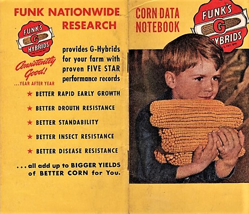 FUNK'S G-HYBRID CORN DATA NOTEBOOK. Funk Brothers Seed Company.