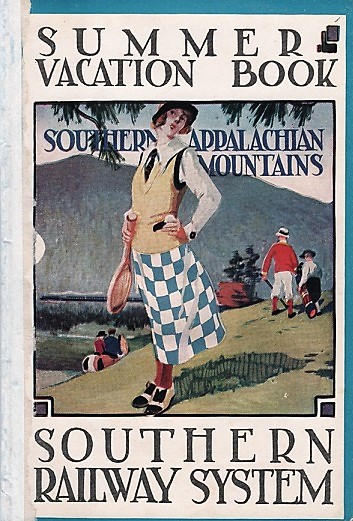 """SUMMER VACATION BOOK [cover title]. RECREATIONAL OPPORTUNITIES IN THE SOUTHERN APPALACHIAN MOUNTAINS: """"The Land of the Sky"""" - Wonderful Resort Section of Western North Carolina. North Carolina / Southern Railway System."""