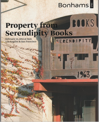 PROPERTY FROM SERENDIPITY BOOKS: Sunday, February 12, 2012 at 9 am, Simulcast Auction, Los Angeles & San Francisco. Bonhams.