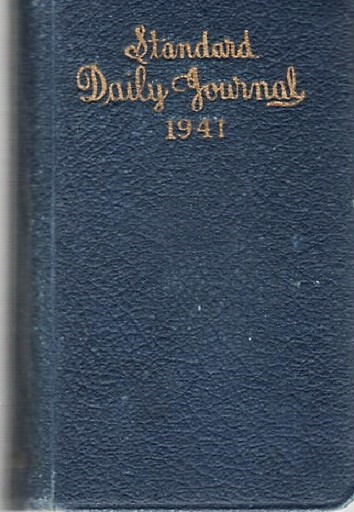 HANDWRITTEN 1941 DIARY KEPT BY THIS NEWBURYPORT, MASSACHUSETTS CAREER WOMAN. Katharine M. Shepard.