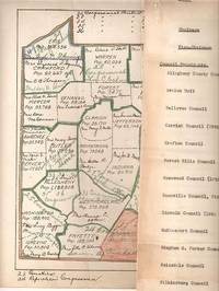 Two items: List of Republican officials (county by county) in western Pennsylvania; 1920 census map showing Republicans in western Pa. Republican Party.