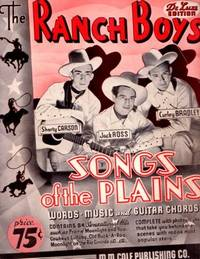 THE RANCH BOYS' SONGS OF THE PLAINS. Shorty Carson.