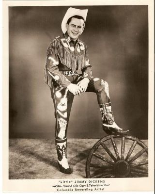"SIGNED, PROFESSIONAL PHOTOGRAPH OF ""LITTLE"" JIMMY DICKENS:; WSM-Grand Ole Opry & Television Star,..."
