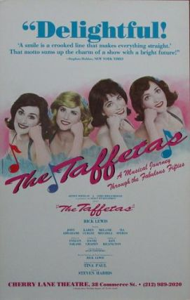 THE TAFFETAS: A Musical Journey Through the Fabulous Fifties--poster:; Starring Jody Abrahams, Karen Curlee, Melanie Mitchell, and Tia Speros. Jody Abrahams.
