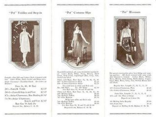 """PET"" TAILORED UNDERGARMENTS: Price List, Fall 1924. Pet Garment Co"