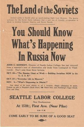 THE LAND OF THE SOVIETS ... YOU SHOULD KNOW WHAT'S HAPPENING IN RUSSIA NOW....; Director of...