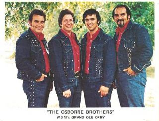 SIGNED, PROFESSIONAL PHOTOGRAPH OF THE OSBORNE BROTHERS (BOBBY, SONNY & ROBBY) AND DALE SLEDD:;...